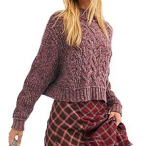 Free People Carousel Sweater Very Berry